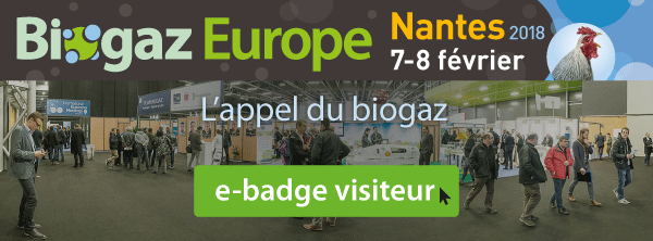 BIOGAZ EUROPE 2018, 7-8 FEVRIER 2018