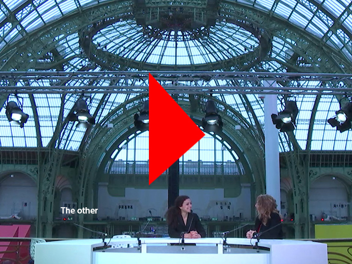 TV interview of Milène Guermont at Grand Palais