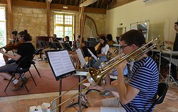 L'Ensemble ULYSSES en répétition à la Fondation Royaumont en 2017