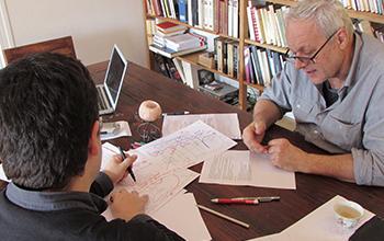Hèctor Parra et Jean-Pierre Luminet à Marseille