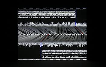 datamatics [prototype-ver.2.0], audiovisual concert, 2006-08, Ryoji Ikeda © Ryuichi Maruo, Courtesy of Yamaguchi Center (YCAM).