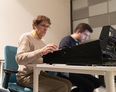 Éric Daubresse en studio à l'Ircam