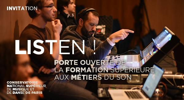 Invitation Portes ouvertes de la Formation supérieure aux métiers du son