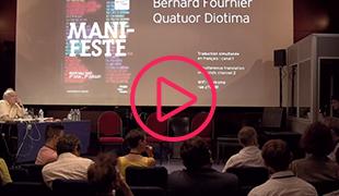 Archive                                                            vidéo lors du                                                            festival                                                            manifeste-2017