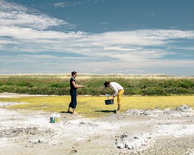 Récolte d'algues par le Studio Klarenbeek & Dros dans le cadre du projet Labo Algues d'Atelier Luma / Luna Arles © Victor Picon, V&S