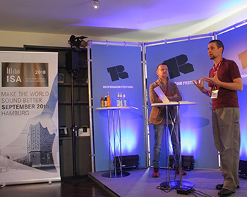 Nicolas Miisdaris et Andrea Cera à l'International Sound Awards