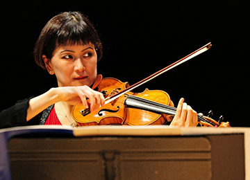 La violoniste Hae-Sun Kang de l'Ensemble intercontemporain © Luc Hossepied