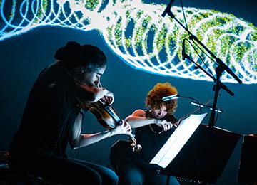 Le Quartetto Maurice lors du concert Opus à La Scala Paris © Ircam, photo : Quentin Chevrier