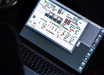 Le logiciel Max en situation de concert © DR